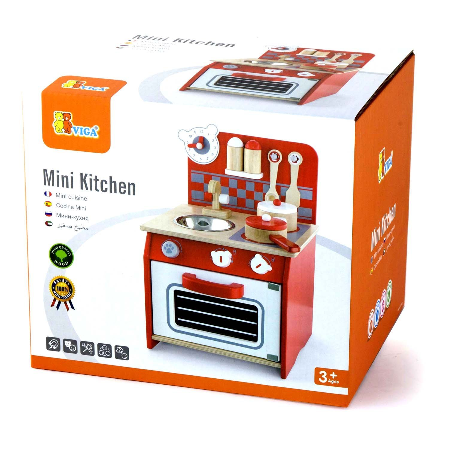 New viga mini kitchen the discovery depot educational for Mini kitchen playset
