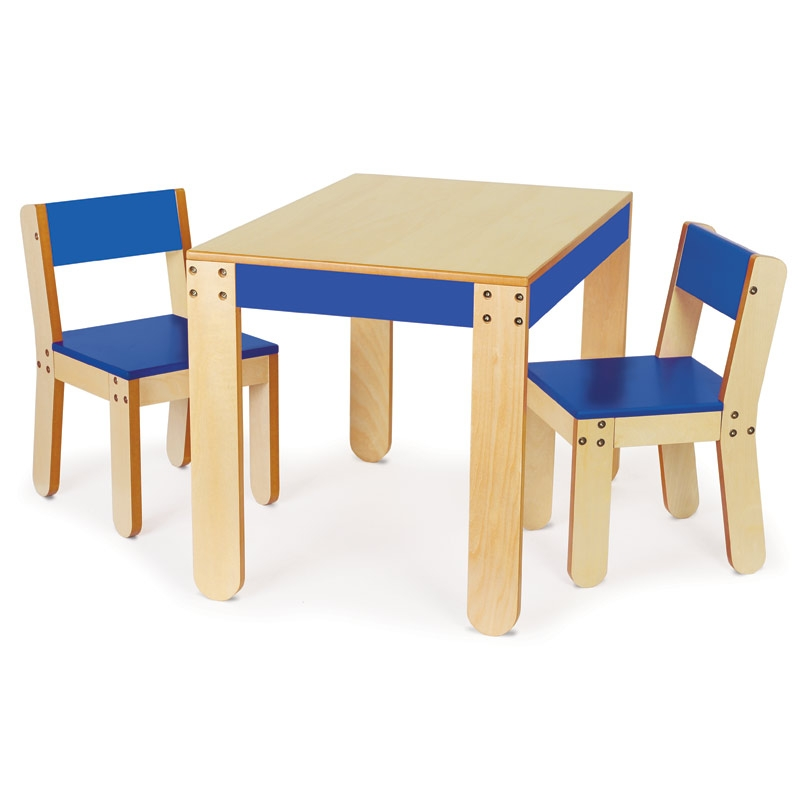 p kolino little one s table chair cobalt the discovery depot educational toys in the. Black Bedroom Furniture Sets. Home Design Ideas